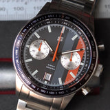 "Straton Daily Driver ""D"" (Black Dial, Grey & Orange Stripes)"
