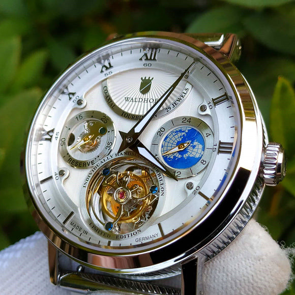 Waldhoff Ultramatic - Diamond Silver Limited Ed. (with Tourbillon)