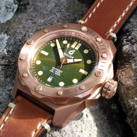 BOLDR Odyssey Bronze Green Limited Edition - 500m CuSn8 Bronze