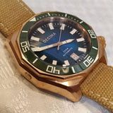 Decima Scylla Limited Edition (Green) - 500m Swiss Movement CuSn8 Bronze