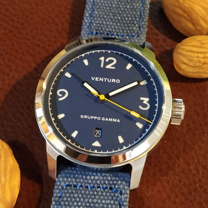 Venturo Field Watch #1 by Gruppo Gamma - Blue Dial