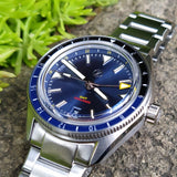 Zelos Horizons GMT v2 - SS Midnight Blue (Swiss ETA 2893)