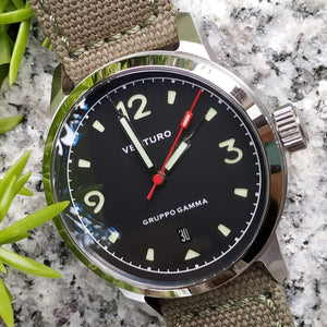Venturo Field Watch #1 by Gruppo Gamma - Black Dial