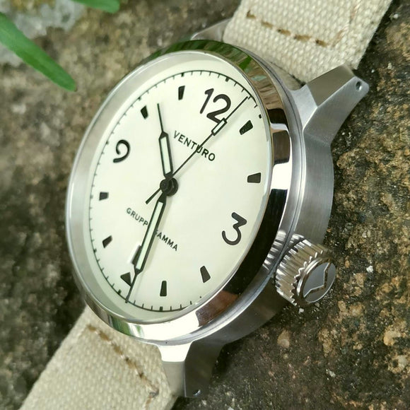 Venturo Field Watch #1 by Gruppo Gamma - Cream Dial