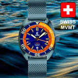 Ocean Crawler Core Diver GMT (Blue Steel) LE - 600m Swiss Mvmt (Regulated)