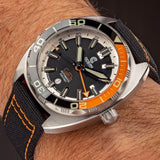 Ocean Crawler Core Diver GMT (Black/Orange) LE - 600m Swiss Mvmt (Regulated)