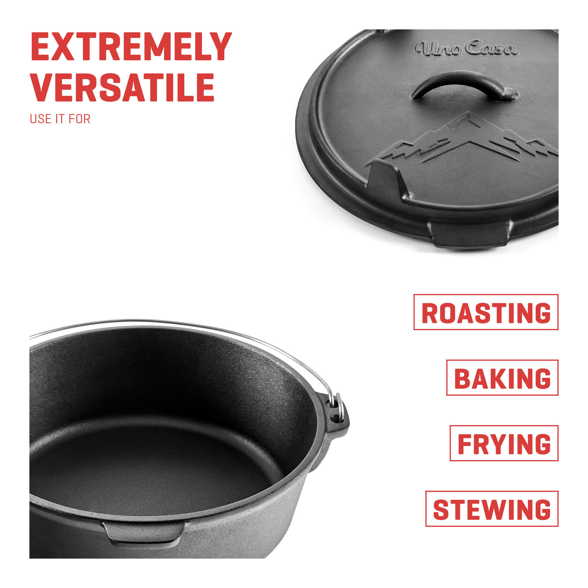 camping dutch oven with lid extremely versatile