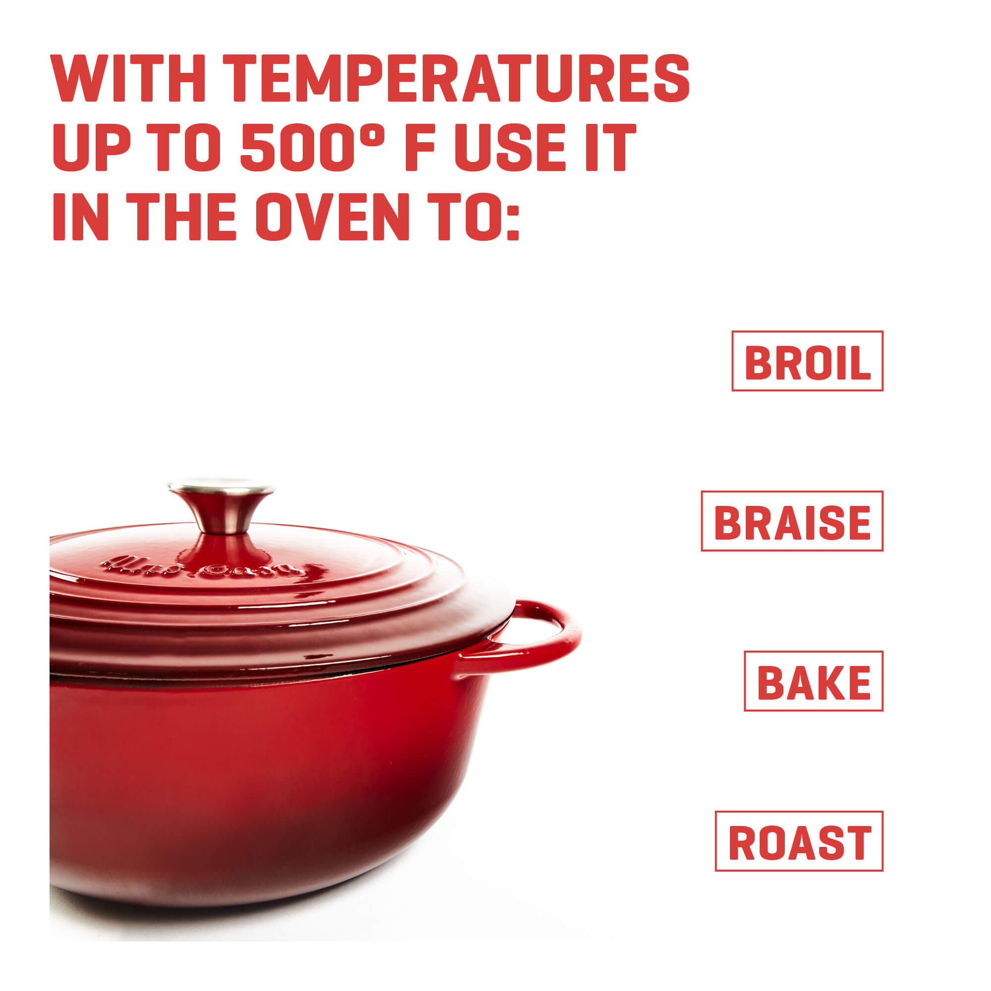 enameled cast iron dutch oven temperature