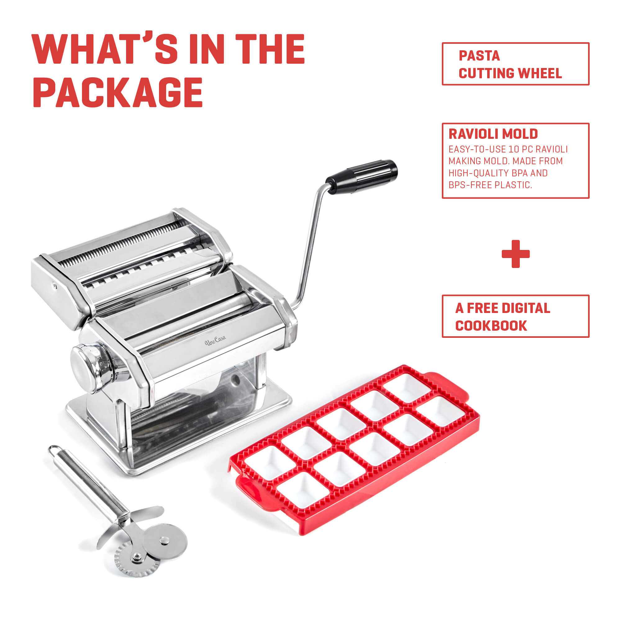 pasta maker what is in the package