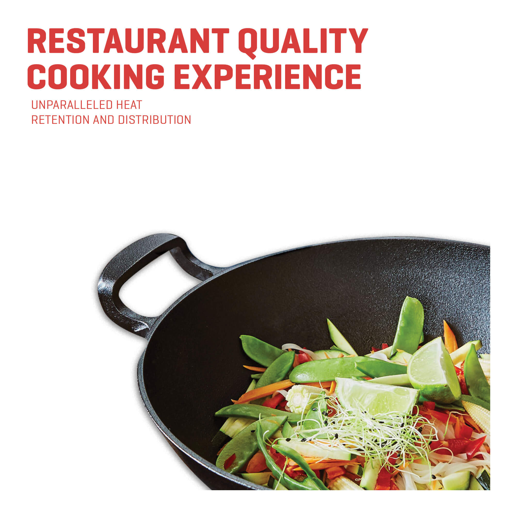 cast iron wok restaurant quality