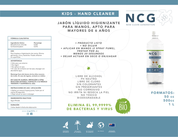 KIDS HAND CLEANER 1 LITRO
