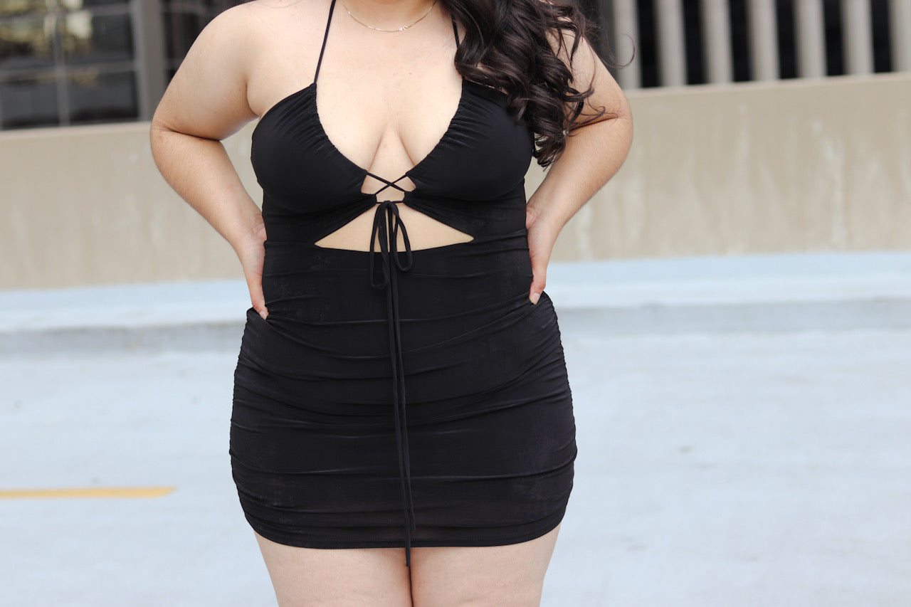 Sassy Sabrina Bodycon Dress