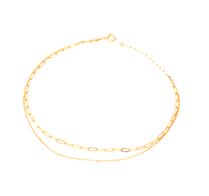 Double Strand Link Chain Anklet