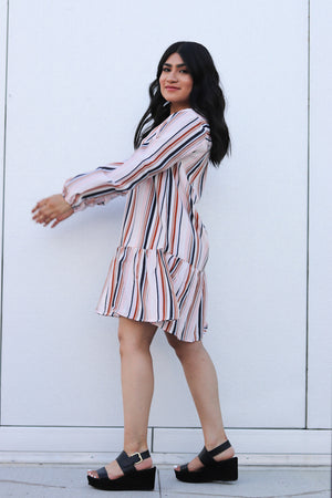 Clay Painted Stripe Dress