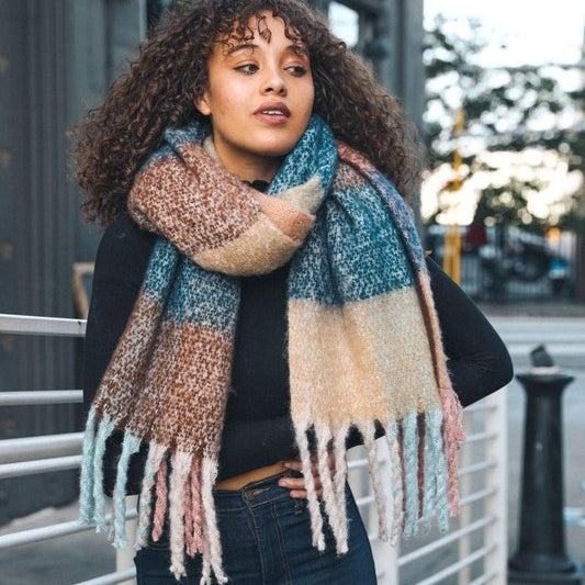 Tati Color Block Scarf