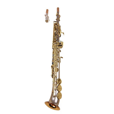 Darron McKinney Demon Chaser 30 Series Brush Nickel Gold Matted Semi Curve Bell Professional Soprano Saxophone