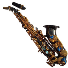 Load image into Gallery viewer, Darron McKinney Demon Chaser 30 Series Curve Black Nickel Gold Plated Professional Soprano Saxophone