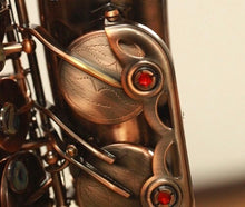 Load image into Gallery viewer, Darron McKinney  Demon Chaser 30 Series Red Antique Plated Professional Alto Saxophone