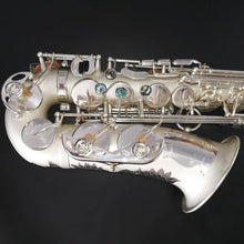 Load image into Gallery viewer, Darron McKinney Demon Chaser 30 Series White Silver Matted Professional Alto Saxophone