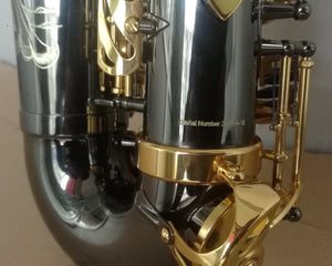 Darron McKinney Demon Chaser 30 Series Black Nickel Gold Big Bell Professional Alto Saxophone