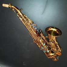 Load image into Gallery viewer, Darron McKinney Demon Chaser 30 Series Curve Dark Honey Gold Plated Professional Soprano Saxophone