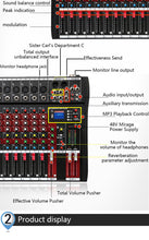 Load image into Gallery viewer, Darron McKinney 12 Channel Professional digital audio mixer