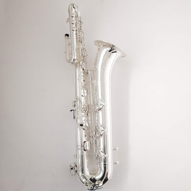 "Darron McKinney Demon Chaser ""Messiah Series"" Silver Plated B-Flat Professional Bass Saxophone"