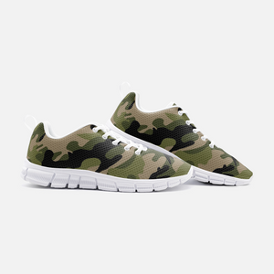 Green Camo Unisex Athletic Sneakers