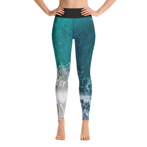 Image of Ocean Waves Yoga Leggings