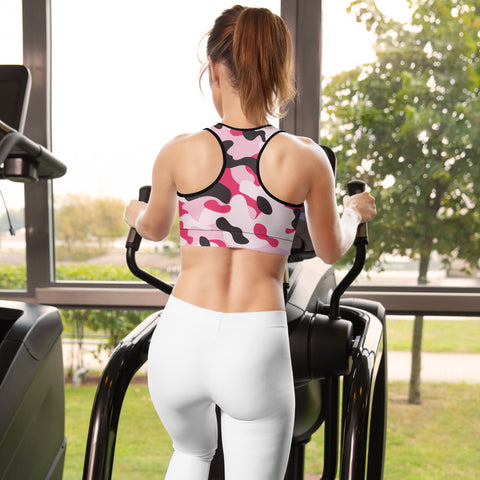 Image of Pink Camo Vibes Sports Bra