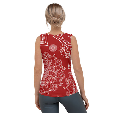 Image of Red Mandala Women's Tank Top