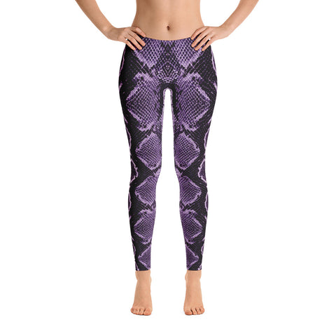 Image of Snake Skin Purple Leggings