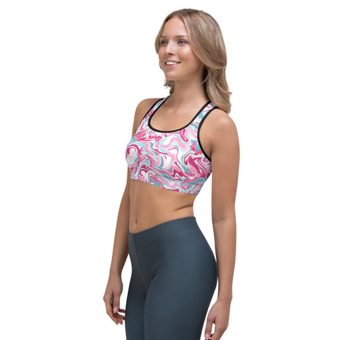 Image of Marble Pink Sports bra