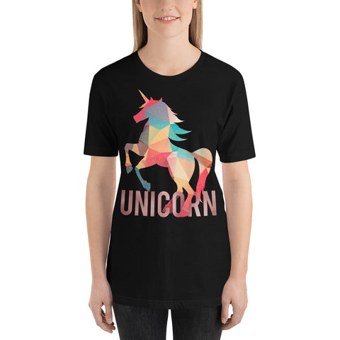 Colorful Unicorn Short-Sleeve T-Shirt