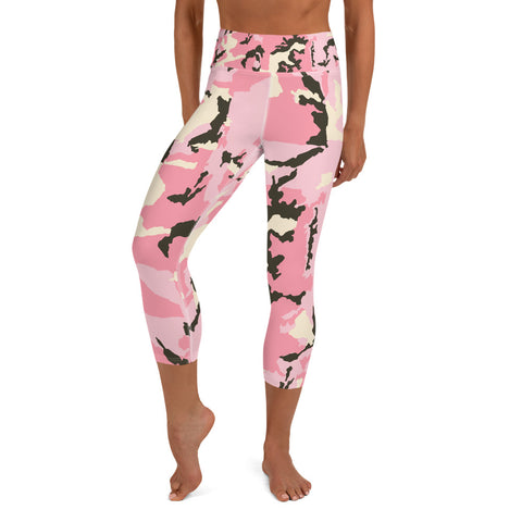 Image of Camo Vibes Yoga Capri Leggings