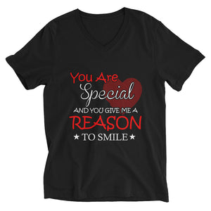 You Give Me Reason To Smile V-Neck T-Shirt