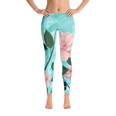 Image of Pink Rose Leggings
