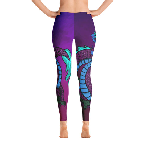 Image of Purple Dragon Leggings