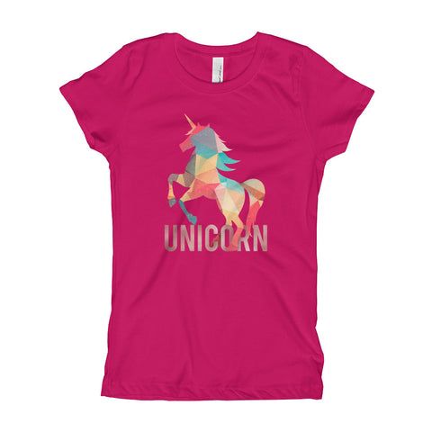 Lovely Unicorn Stylish Girl's T-Shirt