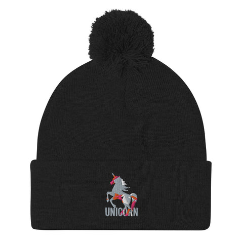 Lovely Unicorn Pom-Pom Beanie