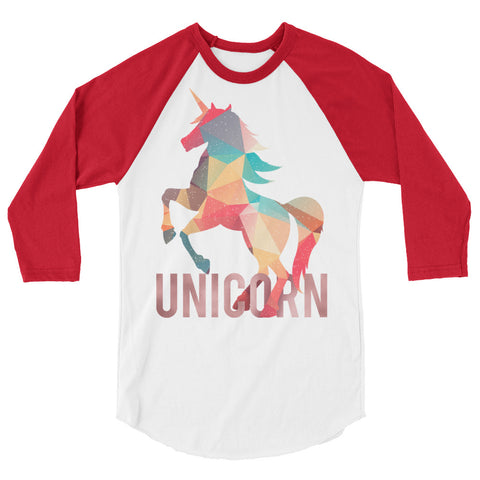 Image of Lovely Unicorn 3/4 Sleeve Raglan Shirt