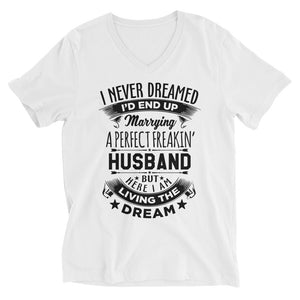 Perfect Freakin' Husband Short Sleeve V-Neck T-Shirt
