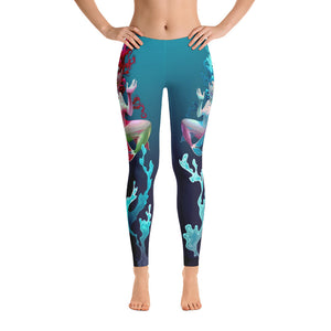 Happy Mermaid Stretchy Leggings