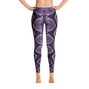 Snake Skin Purple Leggings