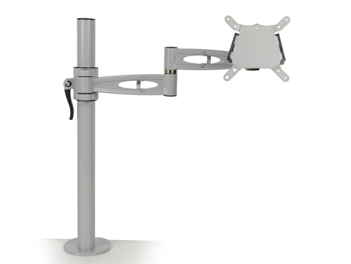 adjustable monitor arm for single screen in grey