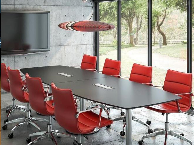 Boardroom table with height adjustable function