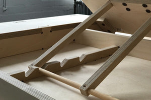 Adjustable Easel desk made from birch plywood from Flomotion
