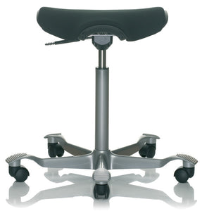Ergonomic stool with cushion seat
