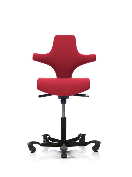 HAG Capisco office chairs are perfect for use with standing desks