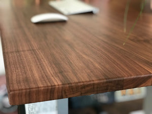 Solid walnut desktops from Flomotion